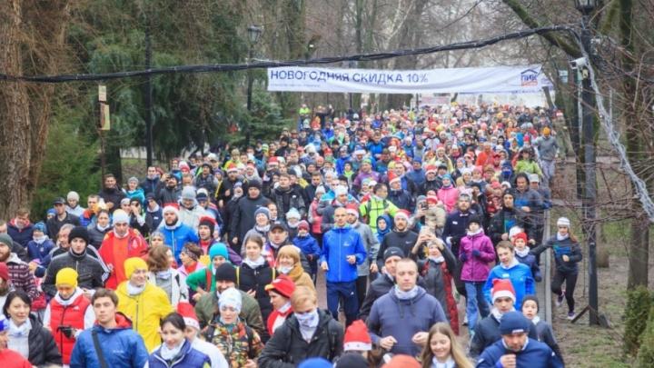 «Побегай 1 января»: в новогодней пробежке по улицам Ростова приняли участие 2 тысячи человек