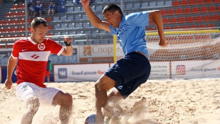 На чемпионате России пляжные «Крылья» проиграли «Спартаку» со счетом 2:4