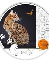 В Северный банк поступили драгоценные монеты с изображением кошек
