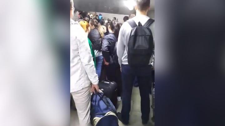 В Самаре на выходе из ж.-д. вокзала возникла очередь из-за проверки документов