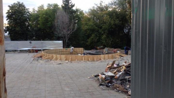 Фонтан снесли, а ремонтировать некому: благоустройство Струковского сада застопорилось