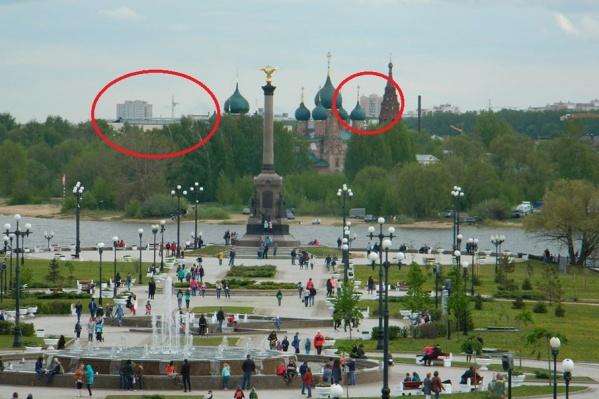 Новостройки портят виды на памятники в Ярославле