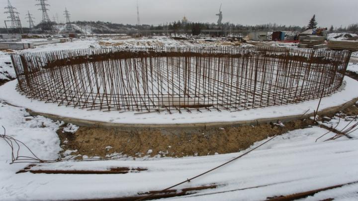 Фонтан Мемориального парка Мамаева кургана будут строить под зимним шатром