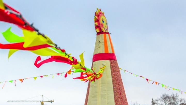 На площади Куйбышева установят Маслену высотой 9 метров