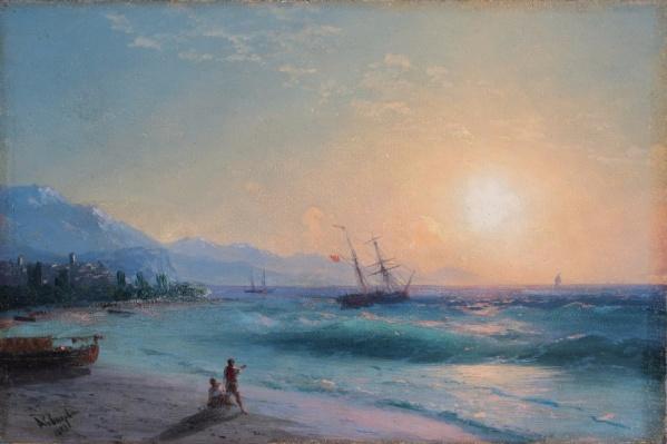 Картина Айвазовского «Восход солнца у Алушты» из собрания пермской галереи