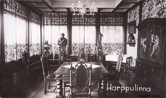 "Богато отделанная столовая дворца ""Арфа"". 30-е годы"