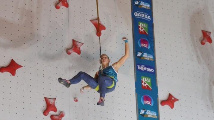 Юлия Каплина вошла в тройку лучших на этапе Кубка мира по скалолазанию