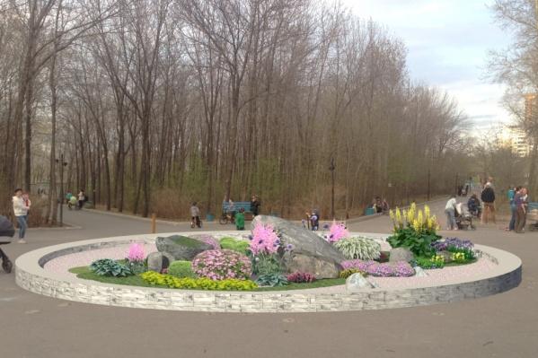 На клумбу посадят 20 многолетников, которые не прекращают цвести.