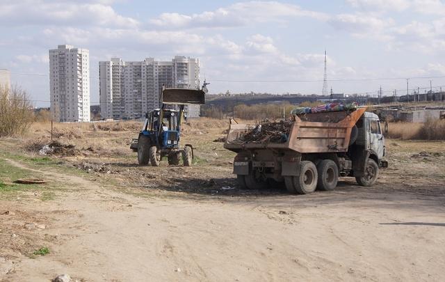 Более 500 тонн мусора собрано в Волгограде за месяц