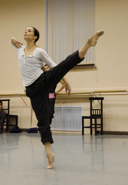 "Диана Вишнева на репетиции балета ""Парк"""