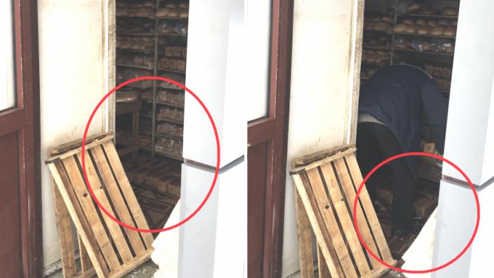 Топчут хлеб ногами: ярославцы увидели, как обращаются с выпечкой в ларьках