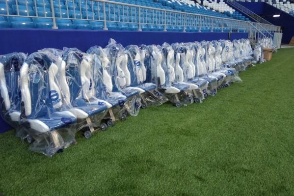 На стадионе заканчиваются последние приготовления к тестовым играм