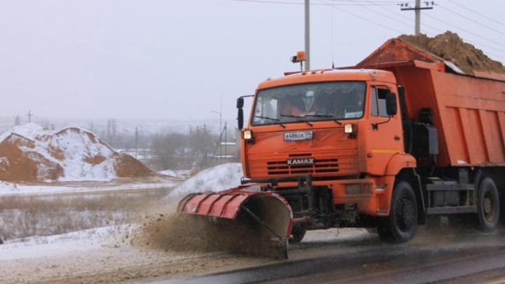 Ледяной дождь остановил движение на двух трассах Волгоградской области