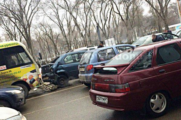 Машины «отделались» механическими повреждениями