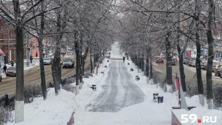 На этой неделе в Перми будет пасмурно и снежно