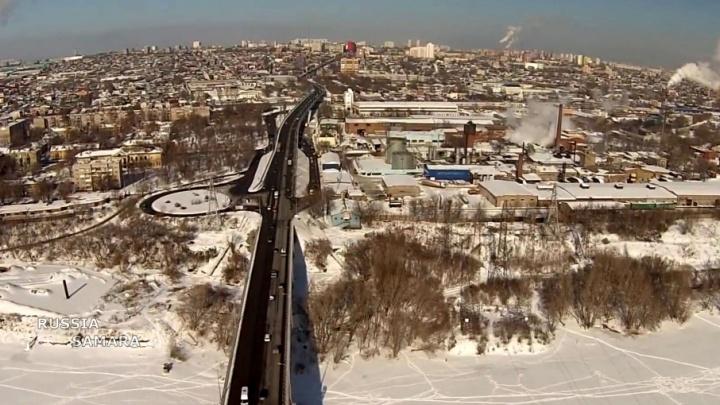 Коптер самарского блогера пролетел над Южным мостом