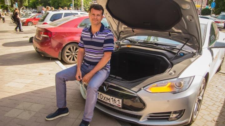 «Километр на электрокаре обходится в один рубль»: дончанин променял «Лексус» на экологичное авто