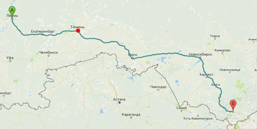 Часть пути уже пройдена, впереди - ещё сотни километров до намеченной цели