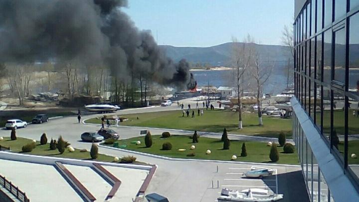 В Тольятти сгорели две яхты