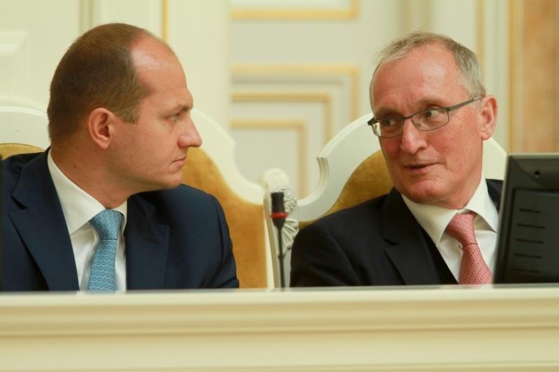 Владимир Лавленцев и представитель губернатора в ЗакСе Михаил Бродский