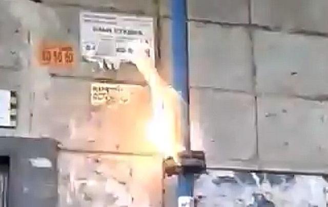 В Советском районе Волгограда воспламенилась газовая труба