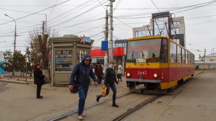 В центре Волгограда с утра перестали ходить трамваи