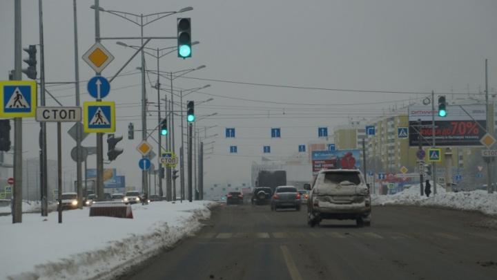 В Самаре перекроют Московское шоссе для установки опор под информационные табло