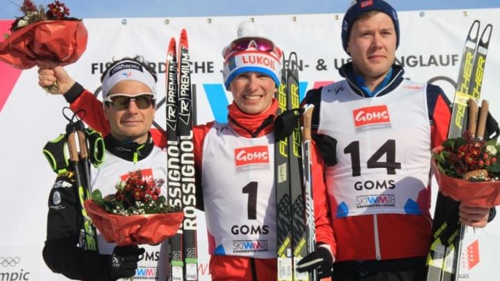 За неделю до Олимпиады тюменский лыжник Денис Спицов выиграл скиатлон на молодежном первенстве мира