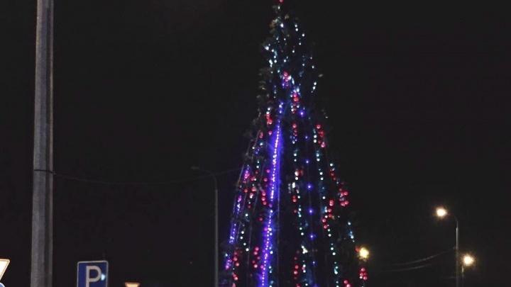 Праздник к нам приходит: в Тюмени установили и нарядили первую новогоднюю ёлку