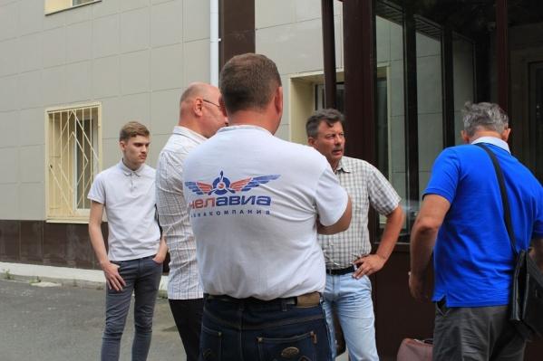 Поддержать ЧЛУГА в суд приехали сотрудники и выпускники