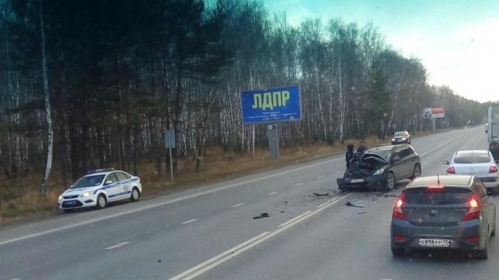 Пассажирка сломала ребра в аварии на Ялуторовском тракте