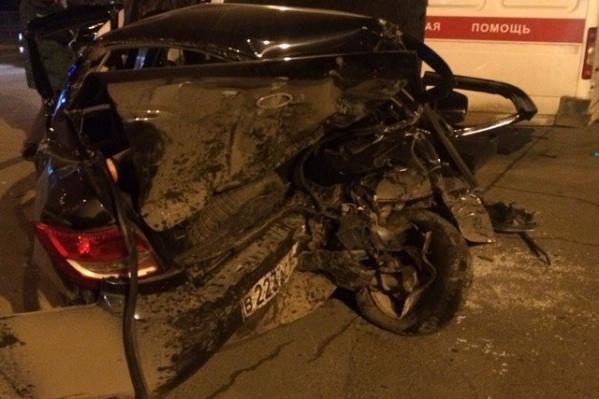 Юноша врезался в «Гранту» на скорости 150 км/ч