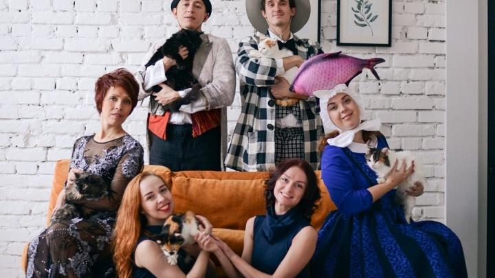 «Дом должен быть у каждого котика»: артисты Театра-Театра поддержали приют «Матроскин»
