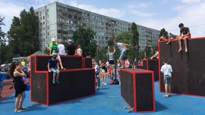 Елена Исинбаева открыла первую паркур-площадку в Дзержинском районе Волгограда