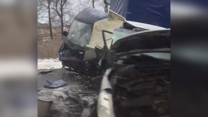 Жертвы гололеда: в Ярославской области в ДТП с грузовиком погиб человек