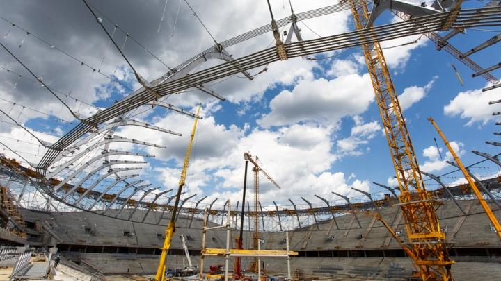 На стадионе «Волгоград Арена» начата отделка центральной лестницы