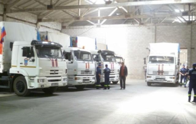 500 тонн гуманитарного груза доставили из Ростовской области на Донбасс
