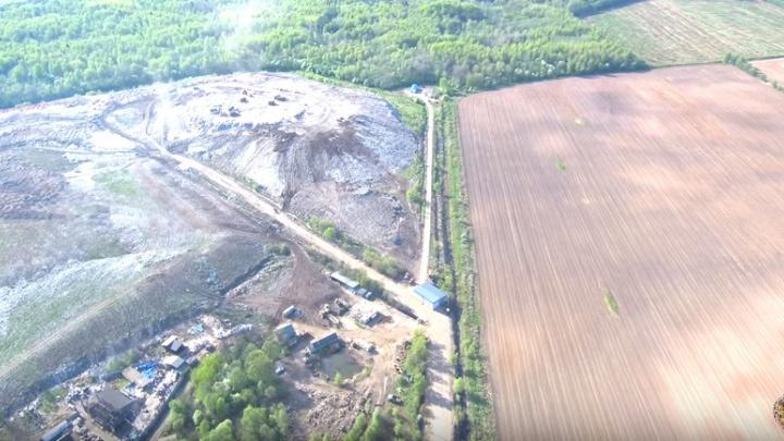 Власти нашли виноватых в загрязнении реки у мусорного полигона «Скоково»