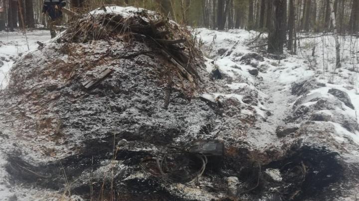 Тюменец увёз тело убитого родственника в лес, сжёг в машине и попытался сбежать в Казахстан