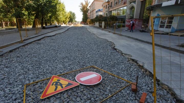 «Концессии» обещают через неделю открыть половину перекопанной улицы в центре Волгограда