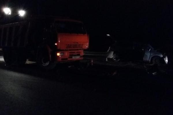 Авария произошла в час ночи