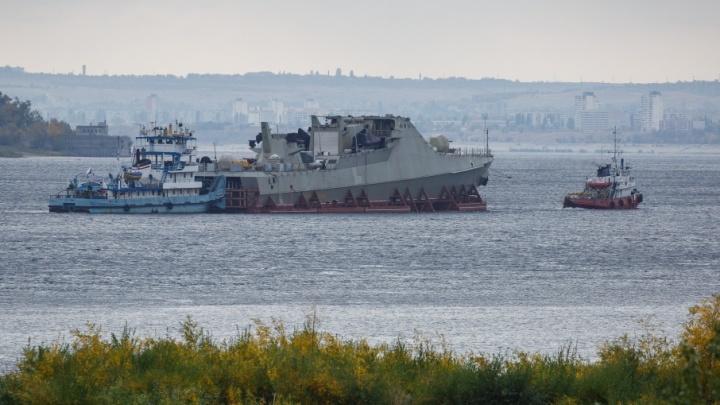 Новейший патрульный корвет Черноморского флота прошел мимо Волгограда