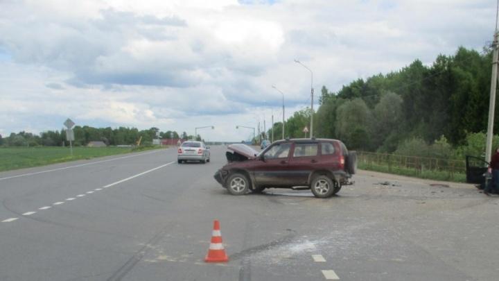 В Ярославской области пешехода сбила машина, отлетевшая в обочину после ДТП
