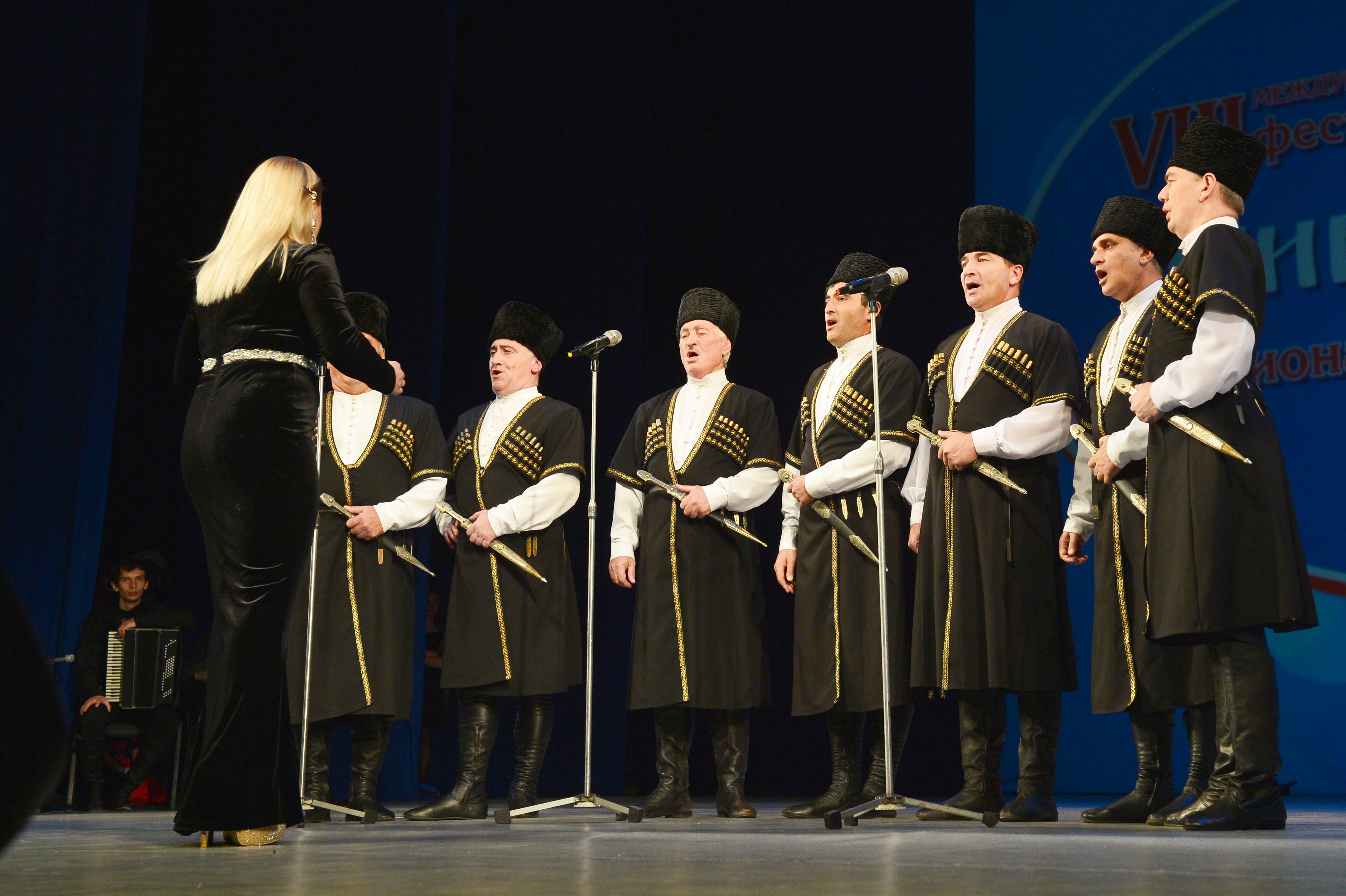 Осетины исполнили песни на родном языке и на русском