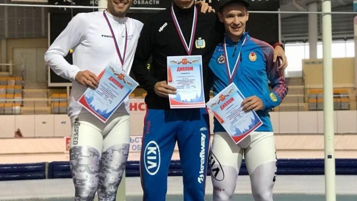 Поморский конькобежец Александр Румянцев завоевал две бронзы на первом этапе Кубка России