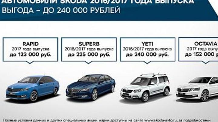 Выгодные предложения для клиентов ŠKODA в сентябре