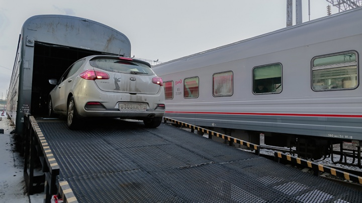 Поезд «Ростов–Москва» оснастили вагоном для перевозки автомобилей и мотоциклов