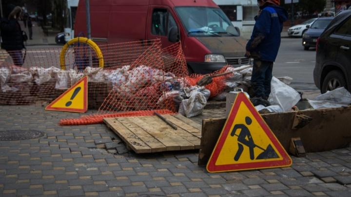 Перекрыли правую полосу дороги: в Ростове на месяц ограничили движение по проспекту Стачки