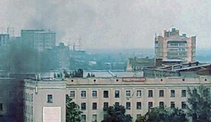 В Ростове произошел пожар на территории часового завода