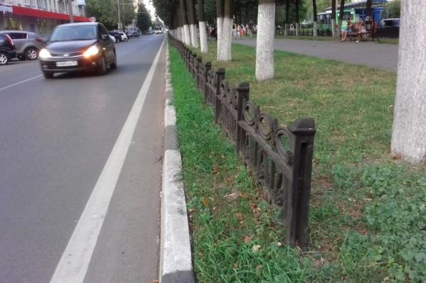 На проспекте Ленина ставить стальной забор не будут